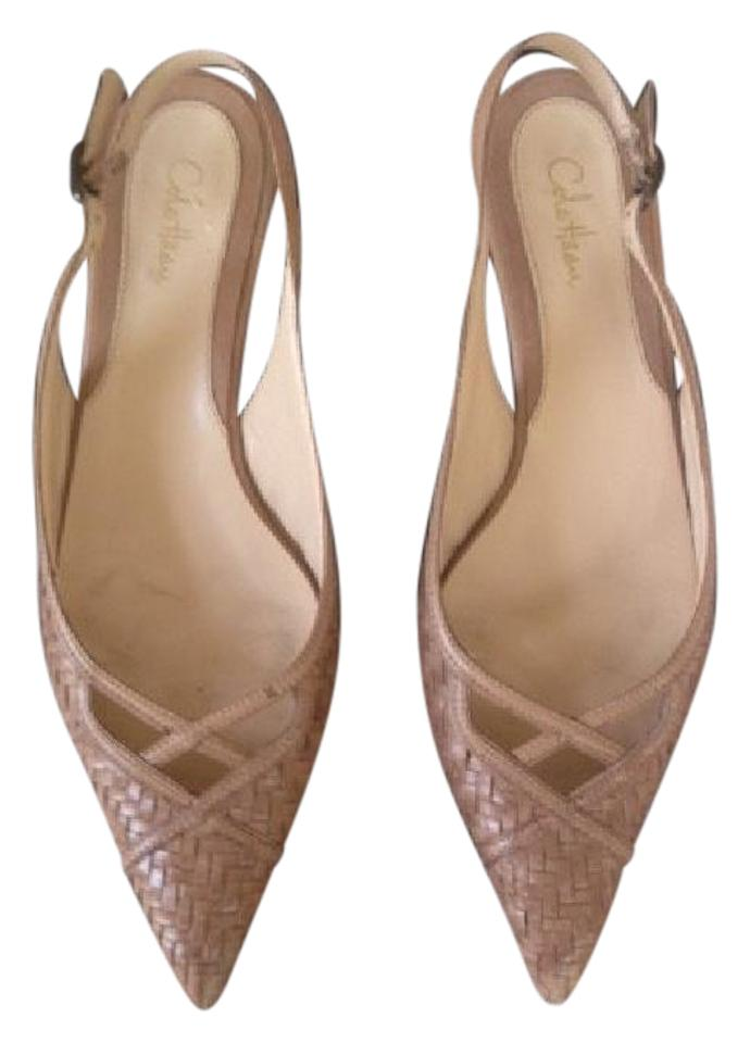 8aee0005836 Cole Haan Nude Kitten Heeled Slingbacks Pumps Size US 7.5 Regular (M, B)  81% off retail
