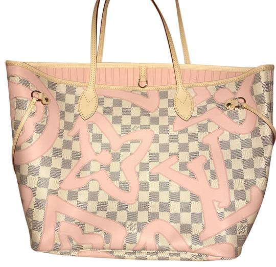 Preload https://item2.tradesy.com/images/louis-vuitton-neverfull-rare-limited-edition-lv-clutch-pink-azur-tote-21571411-0-7.jpg?width=440&height=440
