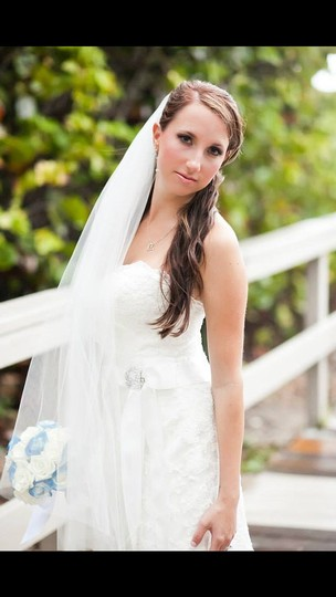 White Medium Fingertip Vei Short New Bridal Veil
