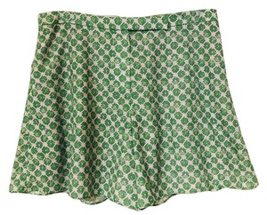 O'2nd Checkered Flower Dress Shorts green