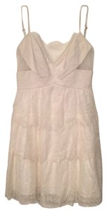 BCBGMAXAZRIA short dress White/Pearl on Tradesy
