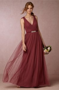 BHLDN Rusty Rose Tulle Pippa Feminine Bridesmaid/Mob Dress Size 2 (XS)