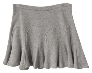 Derek Lam Godet Godet Pleats Flare Mini Skirt heather grey
