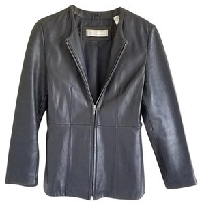 Valerie Stevens Lambskin Leather black Jacket