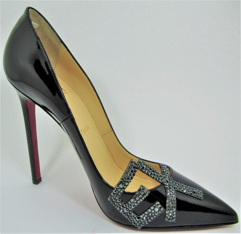 9f481c0fab2 Christian Louboutin Black Sex Pigalle Patent Strass High Heel Red Sole Lady  Fashion Toe Pumps Size EU 39 (Approx. US 9) Regular (M, B)