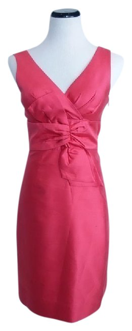 Preload https://img-static.tradesy.com/item/21571757/kate-spade-coral-shantung-bow-short-cocktail-dress-size-2-xs-0-1-650-650.jpg