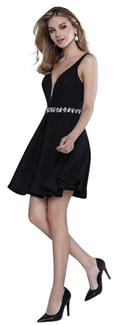 Preload https://item4.tradesy.com/images/black-sleeveless-fit-and-flare-mid-length-cocktail-dress-size-8-m-21571858-0-1.jpg?width=400&height=650