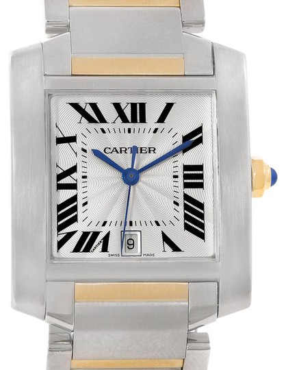 Preload https://item2.tradesy.com/images/cartier-silver-tank-francaise-large-steel-yellow-gold-unisex-w51005q4-watch-21571881-0-1.jpg?width=440&height=440