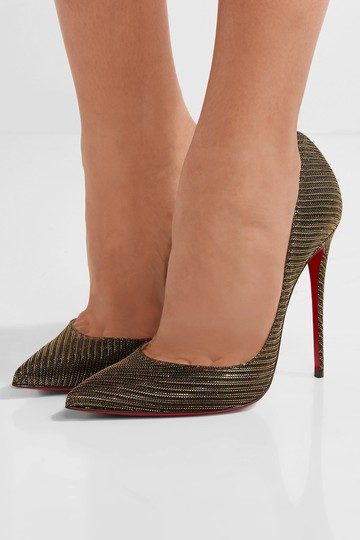 Christian Louboutin So Kate Glitter New black, gold Pumps