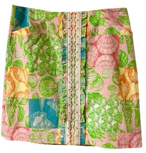 Lilly Pulitzer Patchwork Shell Mini Skirt multi