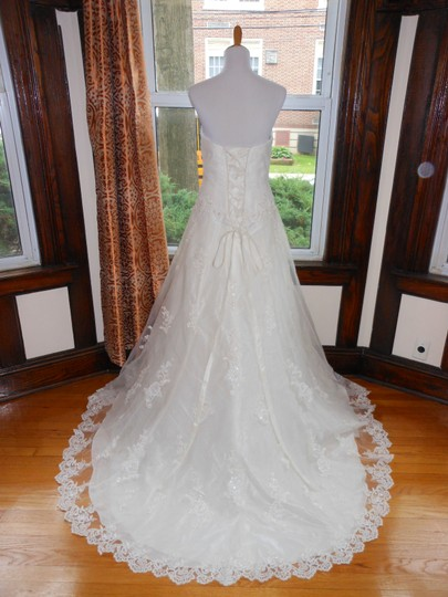 Ivory Vc055 Destination Wedding Dress Size 14 (L)