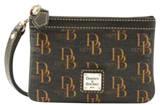 Preload https://item1.tradesy.com/images/dooney-and-bourke-signature-black-and-gold-coated-canvasleather-wristlet-21572065-0-1.jpg?width=440&height=440
