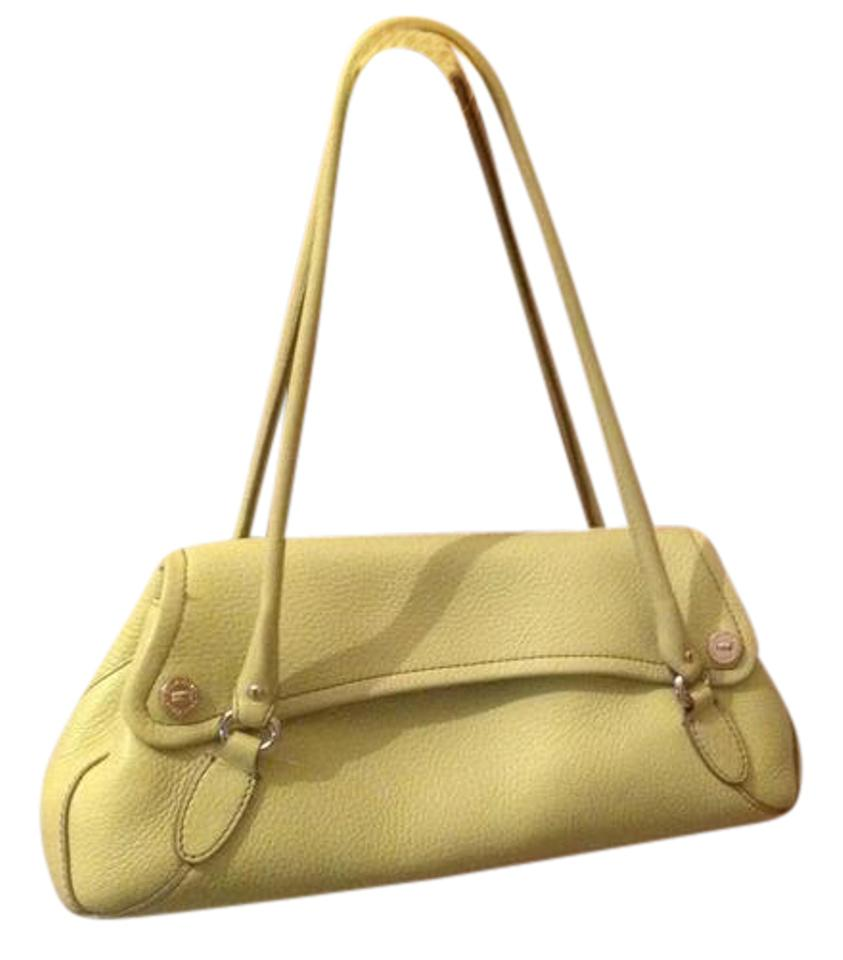7c185b4008 Cole Haan Lime Green Pebbled Leather Shoulder Bag - Tradesy