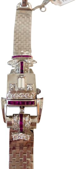 Preload https://item3.tradesy.com/images/hamilton-retro-14k-diamond-and-ruby-bracelet-watch-21572082-0-3.jpg?width=440&height=440