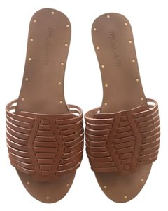 Madewell Slide Leather Brown Sandals