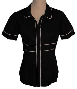 Fang Button Down Shirt Black