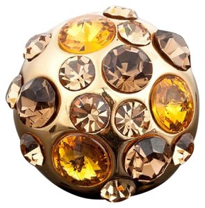 Other Swarovski Crystals The Ninette Gold Bronze Dome Ring 9