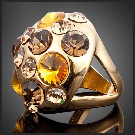 Other Swarovski Crystals The Ninette Gold Bronze Dome Ring S9