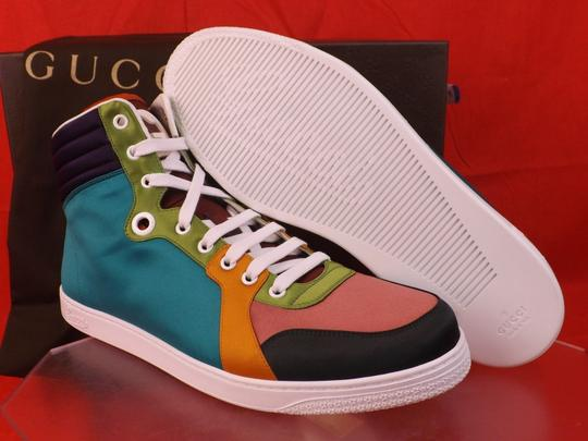 Gucci Multi-color Mens Satin Interlockin Limited Sneakers 10.5 11.5 #343094 Shoes