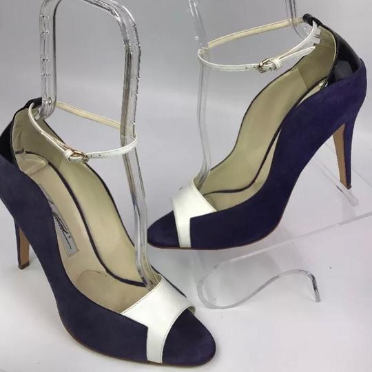 Brian Atwood white/purple Pumps