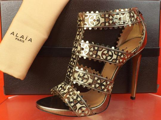 ALAA Dark Silver /Beige Sandals