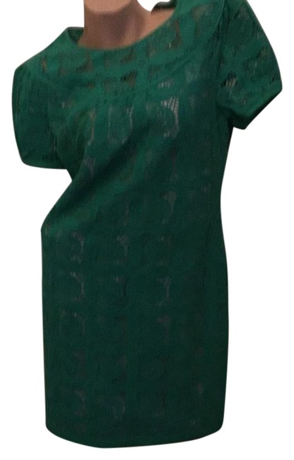 Preload https://img-static.tradesy.com/item/21572317/tahari-green-750-mid-length-short-casual-dress-size-8-m-0-1-650-650.jpg