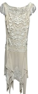 Sue Wong Gatsby Art Deco Mesh Beaded Vintage Dress