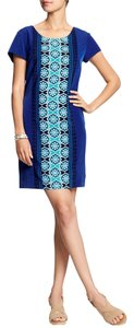 Banana Republic short dress Cobalt Blue Blue Shift Pattern on Tradesy