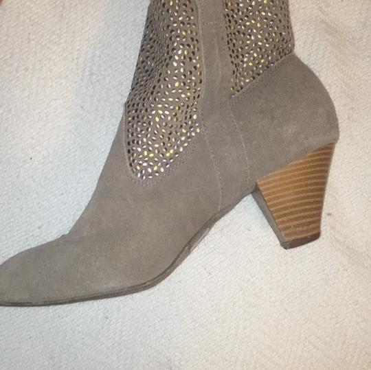 Other Leather Studded Tan Boots
