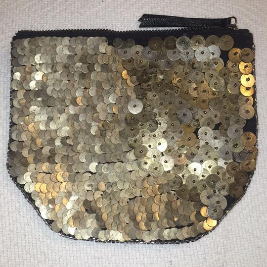 Ecote Ecote- BRAND NEW EMBELLISHED GUNMETAL CLUTCH/TRAVEL/ ACCESSORIES BAG
