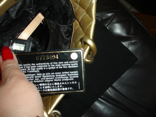 Chanel Italy Large Tote in Gold Black