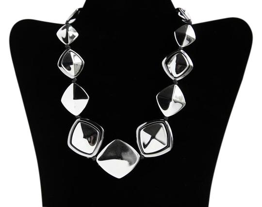 Cool Silver Tone Plastic Necklace