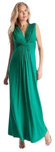 Séraphine Emerald Knot Front Maternity Maxi Dress