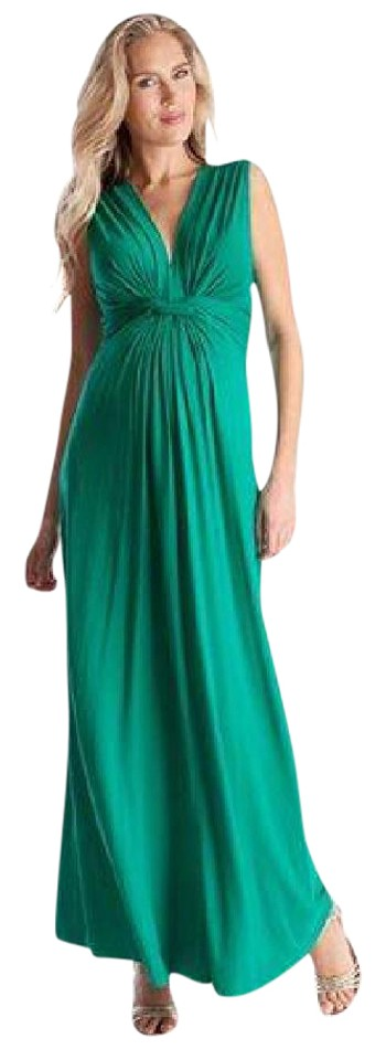 Séraphine Emerald Knot Front Maxi Maternity Casual Dress Size 2 (XS ...