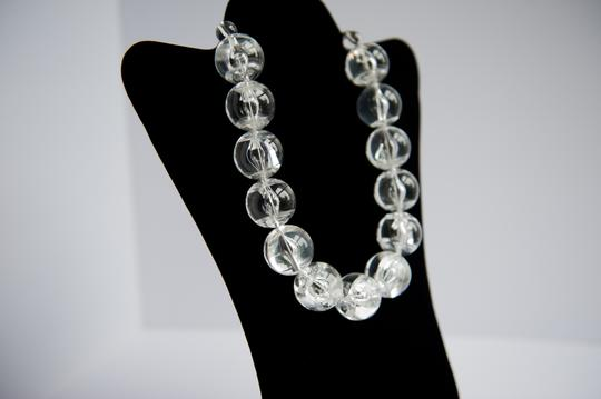 Cool Big Clear Plastic Ball Statement Necklace.