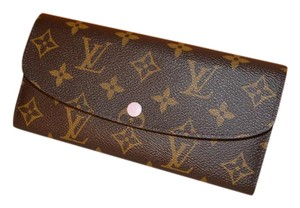 Louis Vuitton BRAND NEW Monogram Emilie Wallet w Rose Ballerine (Pink) Interior