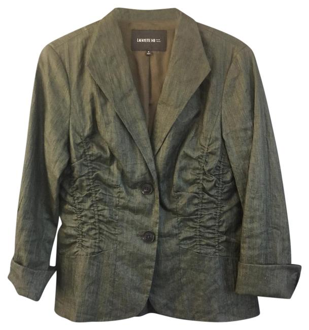 Preload https://item3.tradesy.com/images/lafayette-148-new-york-green-linen-ruched-detail-cuff-sleeves-blazer-size-6-s-21572802-0-1.jpg?width=400&height=650