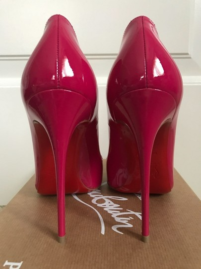 Christian Louboutin Patent Leather Pointed Toe Pink Pumps