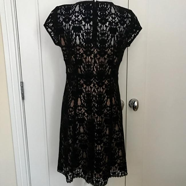 Nanette Lepore Lace Cap Sleeves Sheer Little Dress