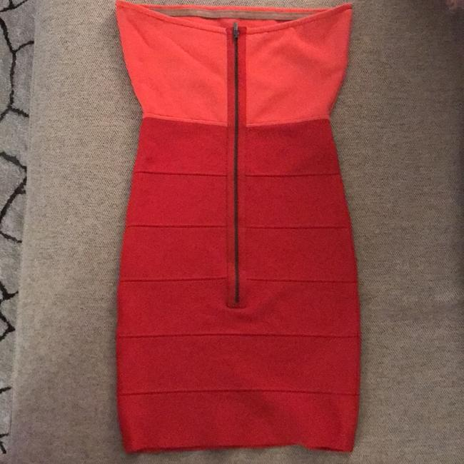 BCBGMAXAZRIA short dress Coral Comb on Tradesy
