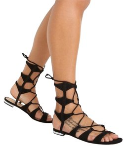 SCHUTZ Black, Gold Sandals