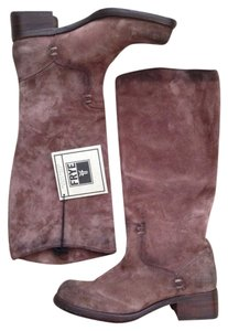 Frye Suede Pull On Leather Brown Boots
