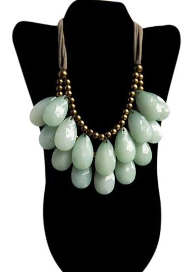 Preload https://item5.tradesy.com/images/anthropologie-black-siythetic-green-stone-necklace-21573189-0-1.jpg?width=440&height=440