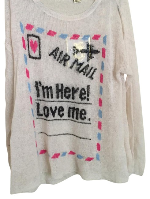 Preload https://item3.tradesy.com/images/wildfox-im-here-sweaterpullover-size-4-s-21573202-0-1.jpg?width=400&height=650