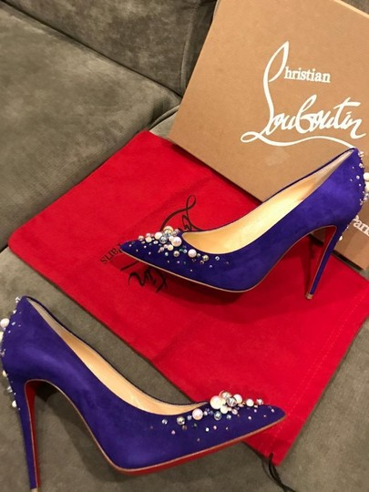 Christian Louboutin Crystal Studded Jewel Purple Pop Pumps