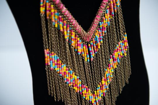 Handmade Multicolor Tribal Necklace