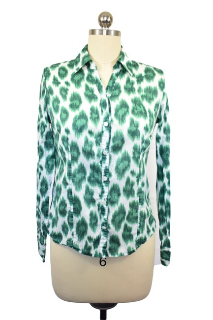 Preload https://item5.tradesy.com/images/michael-kors-green-4p-blouse-size-petite-4-s-21573254-0-3.jpg?width=400&height=650