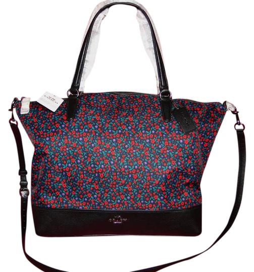 Preload https://item4.tradesy.com/images/coach-floral-print-redblack-nylon-satchel-21573283-0-1.jpg?width=440&height=440