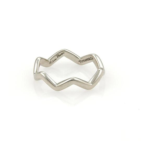 Tiffany & Co. Paloma Picasso Platinum Zig Zag Band Ring Size - 5