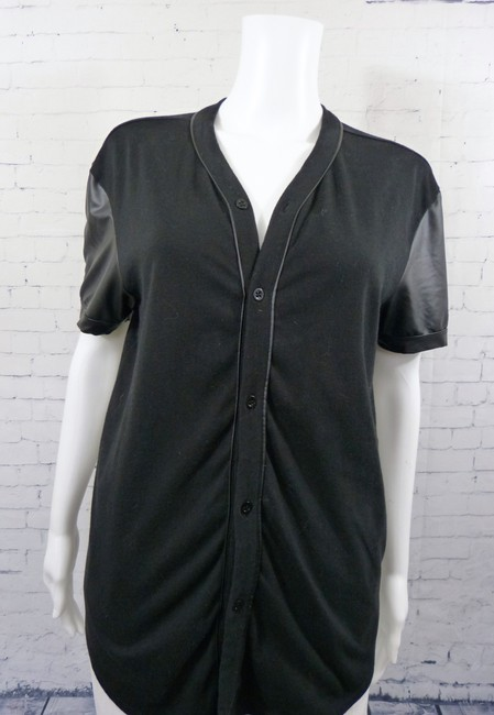 Guess Faux Leather Sleeve Street Wear Tunic